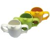Dignity Two Handled Feeder Cup With Pierced Spout In Green