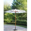 9ft  Rochester Market Umbrella Color: White, With Stand: Yes, Opening Mechanism: Pulley