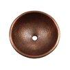 Pin Hammered Topmount Round Copper Vessel Sink 425 1055