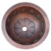 Thin Star Design Top or Undermount Round Copper Vessel Sink 400 590