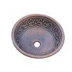 Leaf Design Topmount Round Copper Vessel Sink 1433