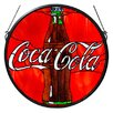 Meyda Tiffany Tiffany Coca-Cola Button Medallion Stained Glass Window