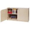 Two Shelf Mobile Storage Unit Doors Height 1546