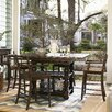 Down Home Five Gathering Set Pull Up Stool Distressed Molasses