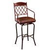 Napa Ridge Rust Swivel Counter Stool Arms Coffee Fabric 254 297