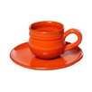 Mamma Ro 6 Oz. Cup And Saucer Set In Orange