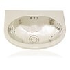 MetalU Shaped Bathroom Sink 688 6108