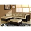 Abbyson Living Charleston Sectional Sofa and Ottoman Set - Sofa and Chair Shop