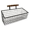 18 x 11 x 775 Metal Wall Organizer With Wooden Hanger