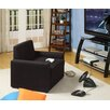 Dorel Home Products Single Sleeper Chair in Rich Black - Sofa and Chair Shop