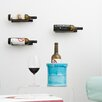 1 Bottle Metal Wall Mounted Wine Rack Finish Satin Black