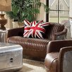 17 Stories Annessia Leather Loveseat