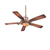 Great Room Napoli II 5 Blade Ceiling Fan Finish: Sterling Walnut with Sterling Walnut Blades