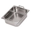 Hotel Pan With Fixed Handles - 1/2 In Silver Size-6 H