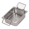 12.5 X 10.5 Inch Stainless-steel Perforated Hotel Pan With Folding Handles  Size-6 H
