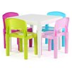 Tot Tutors Kids' 5 Piece Square Table and Chair Set - Children's Tables and Sets Kids Furniture