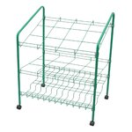 12 Opening Upright Roll File Filing Cart Color: Green