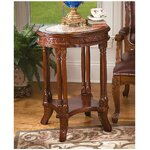 Balfour Inlaid Marble Colonnade End Table
