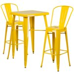 3 Piece Bar Table and Chair Set Finish: Yellow