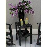 12 Shelf Side Table Finish: Black