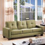 3 Seater Sofa Upholstery: Mustard Green