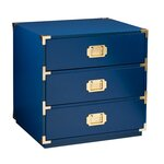 Loren 3 Drawer Campaign Chest Color: Navy
