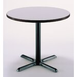 "30"" Round Pedestal Table Color: Grey Nebula, Size: 29""H x 30""W"