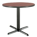 "30"" Round Pedestal Table Color: Mahogany, Size: 29""H x 30""W"