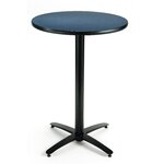 "30"" Round Pedestal Table Color: Medium Oak, Size: 29""H x 30""W"