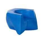 Frank Gehry Color Easy Lounge Chair Frame Finish: Blue
