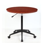 "32"" Mobile Round Gathering Table Finish: Cherry"