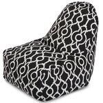 Athens Bean Bag Chair Color: Black