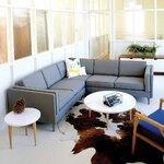 Adelaide Bi-Sectional Upholstery: Leaside Driftwood