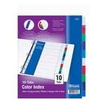 3-Ring Binder Dividers with 10 Color Tabs Quantity: Case of 144
