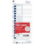 English/French Time Card (Pack of 100)