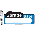 "10"" x 22"" Garage Sale Sign (Set of 3)"