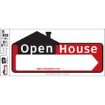 "10"" x 22"" Open House Sign (Set of 3)"