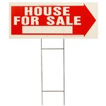 "10"" x 24"" House for Sale Sign"