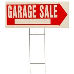"10"" x 24"" Garage Sale Sign"