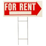 "10"" x 24"" For Rent Sign"