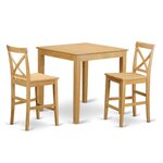 3 Piece Counter Height Dining Set Finish: Oak