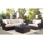 Aruba 4 Piece Deep Seating Group with Cushions