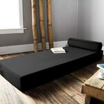 Ansley Daybed with Bolster Pillow Color: Black