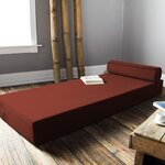 Ansley Daybed with Bolster Pillow Color: Tomato