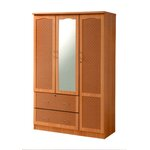 3 Door Armoire Finish: Beech