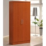 2 Door Armoire Finish: Cherry