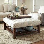 Everly Ottoman Upholstery: Faded Medallion