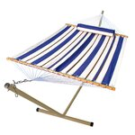 2 Piece Fabric Hammock & Stand Set