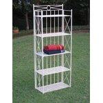 4-Tier Wrought Iron Indoor/Outdoor Bakers Rack