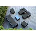 10 Piece Deep Seating Group with Cushions Fabric: Dark Gray